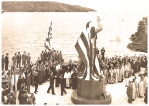 The Unknown Sailor statue in Andros