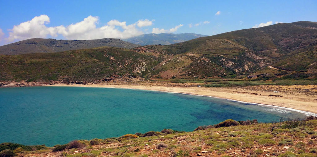 Ateni beach in Andros