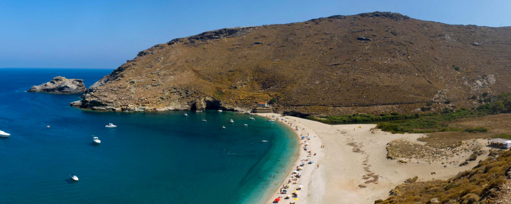 The Ahla Beach in Andros