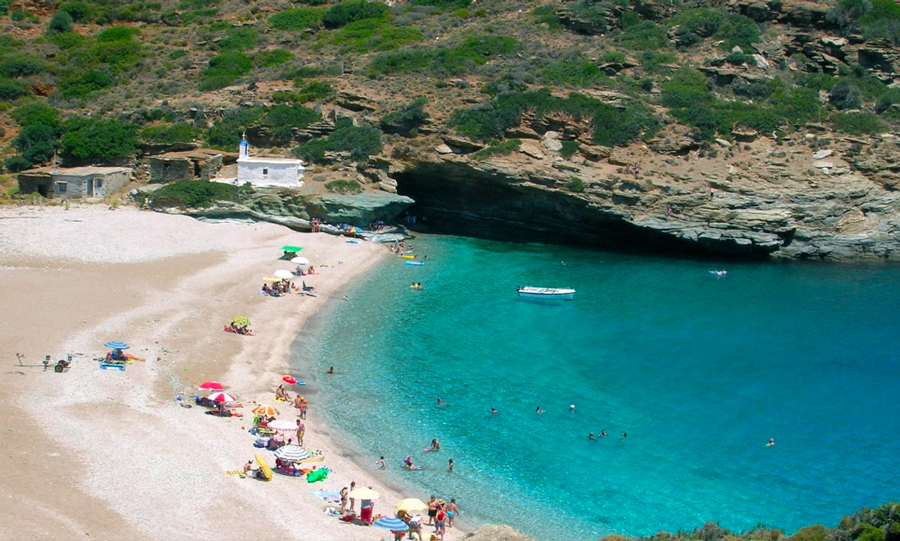 Vitali beach in Andros